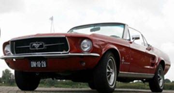 Cabrio Rijden Mooie Ford Mustang